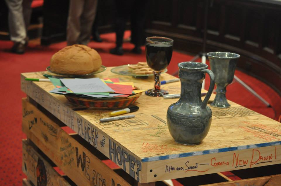 The communion table at NEXT 2014 gathering
