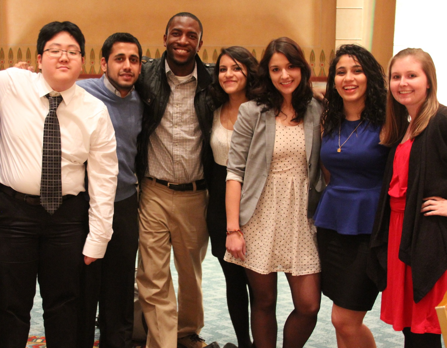 Amy Beth participating in a Muslim Student Association event with her Emory peers